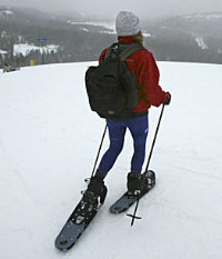 snowshoeing in Lake Tahoe by Michael Maloney