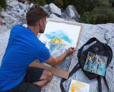 Jeremy Collins_painting inYosemite_JamesQMartin